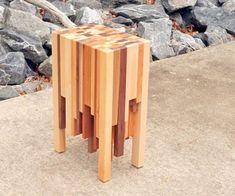Table d'extrémité de bout en bois de rebut en bois  #extremite #rebut #table