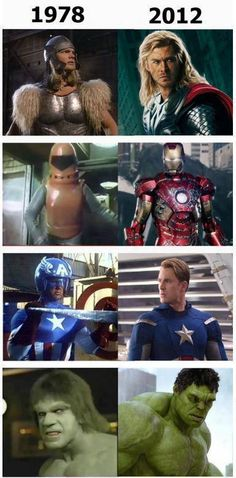 Avengers: antes y despues