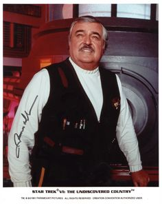 Autographed photo of Scotty (Star Trek VI).