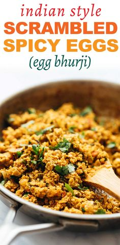 Street style egg bhurji - make this Indian take on scrambled eggs. Its spicy butter full of flavour and a fantastic breakfast for a crowd. Also called anda bhurji. Indian Food Recipes, Vegetarian Recipes, Cooking Recipes, Healthy Recipes, Ethnic Recipes, Yummy Recipes, Keto Recipes, Breakfast For A Crowd, Breakfast Recipes