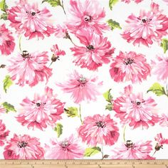 Michael Miller Spring Fling Tallulah Blossom from @fabricdotcom  Designed for Michael Miller Fabrics, this cotton print fabric is perfect for quilting, apparel and home decor accents. Colors include lime, green, shades of pink, taupe and a pale pink background.