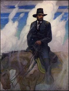 "!! ""If I owned Hell and Texas, I'd rent out Texas and live in hell."" - General William Tecumseh Sherman (by N.C. Wyeth)"