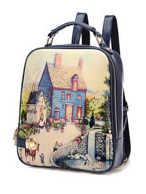 New Style Graffiti Pattern Handle Best Backpack img