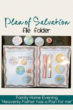 """Family Home Evening Lesson teaching toddlers about The Plan of Salvation. Children match the pieces together while parents explain the plan in very simple terms. """"Heavenly Father Has a Plan for me"""""""