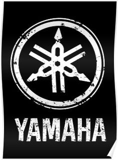 'Yamaha Drums-Classical Logo eroded-Grunge-Rock,Pop,Jazz,Metal,Blues-Music' Poster by AmadeuMarques Yamaha Logo, Triumph Cafe Racer, Blues Music, Sell Your Art, Drums, Jazz, Grunge, Pop, Logos