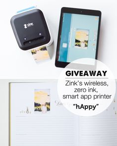 ZinkhAppyprinter giveaway! This is the coolest thing I've ever seen! Want one for sure!