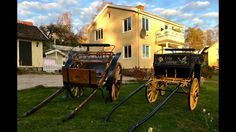 Restored horse wagons
