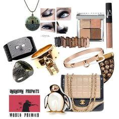 Beauty, Baubles, and a Penguin! by elaurlaur on Polyvore featuring beauty, Urban Decay, NARS Cosmetics, Hermès, Sydney Evan, Roberto Coin, Chanel, Bobbi Brown Cosmetics, hermes and nudelips