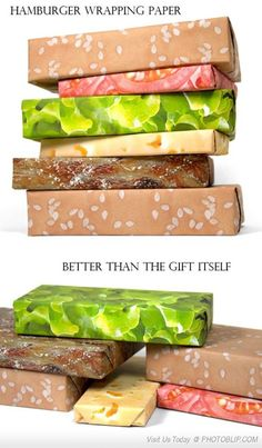 Hamburger Wrapping paper... AHH!!! YESSS