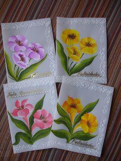tarjetas de saludo pintadas con acrilico , www.carmenaldana.com