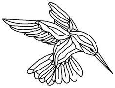 hummingbird coloring pages gst 9 bevel cluster hummingbird stained glass bc09