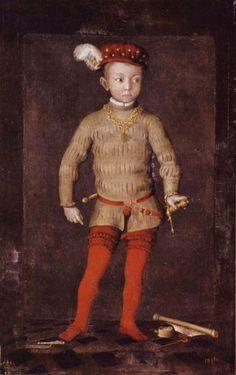Portrait présumé de Henri IV, roi de France et de Navarre, enfant, Ecole française du 16e siècle