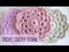 CROCHET: how to crochet a coaster | Bella Coco - YouTube