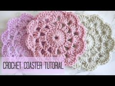 Crochet coasters free pattern - Tutorial Step By Step | Crochet-Here