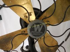 Lot # : 199 - Very Vintage Westinghouse Fan with Metal Blades
