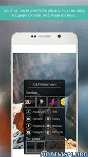 eZy Watermark Photo – Pro v2.0.2.2 (Patched)Requirements: 4.0 and upOverview: Are you worried about getting your photographs stolen on social media? Let's make sure that your photographs are protected. You can do this by using your name,...