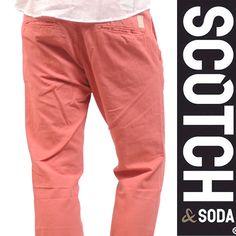 SCOTCH(スコッチアンドソーダ) チノパン ピンク ロープベルト RELAXED SLIM【送料無料】 op-sc-050