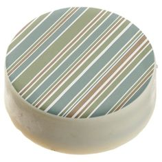 Gren white and brown stripes pattern