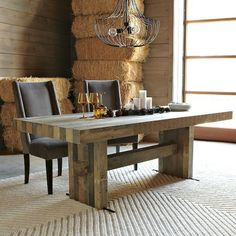 Here's a dining table that has a design that's both casual and refined, relaxed and elegant. The Emmerson dining table is a beautiful handcrafted dining ta