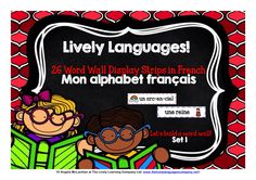 Mon alphabet français! features 26 words and pictures for display in your classroom or along school corridors to create a great French feel to the learning environment, and to help children engage with the written word in French from the very beginning of their learning.  To give you an idea of size, there are three 'strips' per A4 page.
