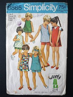 Vintage Sewing Pattern Girl's 70's Simplicity by Freshandswanky, $4.00