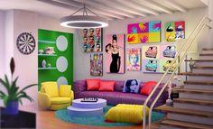 ¿Qué les parece una habitación llena de color?