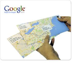 Google map envelopes.