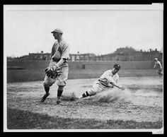 ★Old Photos  Maps★ (@Lost Inwoods Inwoods  Found Gallery) tweeted at 6:53 PM on Fri, May 30, 2014: Washington Senator's Bucky Harris stealing 3rd  vs Boston Red #Sox c.1922