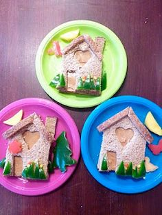 Please Do Not Feed The Animals!: Cute Food For Kids - house sandwiches