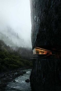 Cliff House Architecture Design and Concept 48 Architecture Design, Amazing Architecture, Building Architecture, Fashion Architecture, Minimalist Architecture, Beautiful Homes, Beautiful Places, Beautiful Pictures, Cliff House