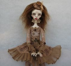 Dana Art doll OOAK doll Collecting doll Air dry clay doll Paper clay doll Human figure Art clay doll Hand made doll by JuraD on Etsy