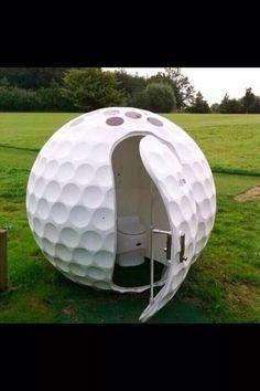 Golf Ball Course Toilet