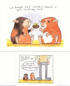 pig poop birthday card | Eric and Ernie's idea of a present … | Flickr