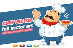 Chef Vector by pecellele pencil on Creative Market