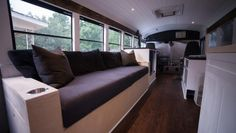 Remarkable new school bus conversion, called Stormy, features a bus-length solar roof.