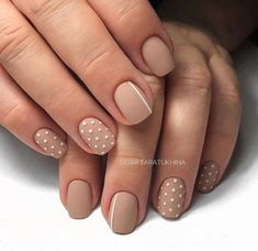 60 Polka Dot Nail Designs for the season that are classic yet chic - Hike n Dip : Since Polka dot Pattern are extremely cute & trendy, here are some Polka dot Nail designs for the season. Get the best Polka dot nail art,tips & ideas here. Nail Designs Easy Diy, Dot Nail Designs, Nails Design, Cute Simple Nail Designs, Chic Nail Designs, Gel Manicure Designs, Nail Manicure, Dot Nail Art, Polka Dot Nails