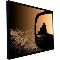 ArtWall Dean Uhlinger Shiprock Floater Framed Gallery-Wrapped Canvas, Size: 14 x 18, Black