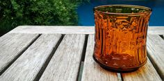 Vintage Orange Glass Tumbler/Libbey Artica Orange Glass/Geometric Pattern/60s Orange Glass/Vintage Candle Holder/*FREE GIFT WRAP* by aLaRoad on Etsy