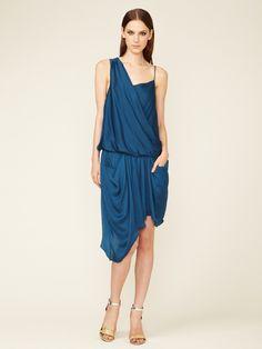Helios Asymmetrical Grecian Dress by Helmut Lang