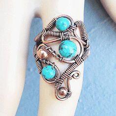 Bohemian wire wrapped jewelry handmade boho от Kissedbyclover