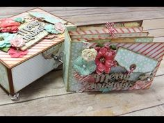 How I Tackle Embellishing My Mini Albums - YouTube