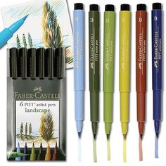 Faber Castell Pitt Artists' Brush Pens Landscape Wallet