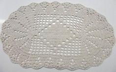 Tapete de crochê oval (PAR) | Entrelinhas & Barbantes | Elo7