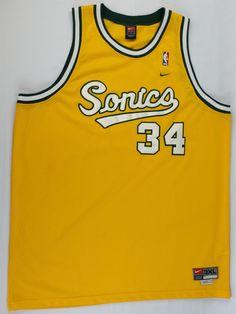 e82326b7672 Ray Allen Seattle Supersonics NIKE Jersey Vintage Alternate Rare Swingman  3XL Seattle