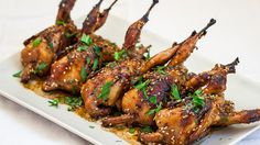 Kevin would love this! --Asian Style Roasted Quail – these quails are full of flavor and spice, simply delicious. If you've never had quail before, then this recipe is a must. Wild Game Recipes, Egg Recipes, Turkey Recipes, Asian Recipes, Chicken Recipes, Cooking Recipes, Roast Quail Recipes, Carne, Roasted Quail