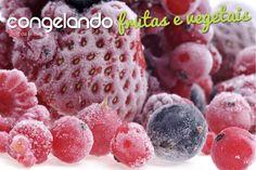 Congelando frutas e vegetais