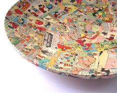 Comic decoupage bowl