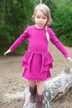 Joah Love Magenta Fiona Bustle Dress   *Preorder*