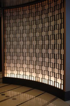 Decorative metal screen panels in the modern interior and exterior Interior Exterior, Interior Walls, Interior Lighting, Modern Interior, Partition Screen, Room Divider Screen, Room Dividers, Feature Wall Design, Decorative Screens