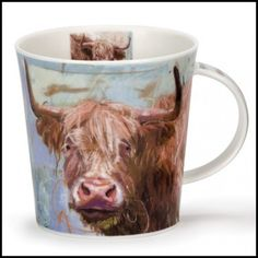 Dunoon Mugs - Cairngorm Shape - Animals on Canvas: Highland Cow